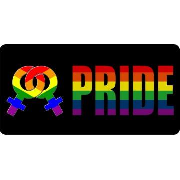 Female Pride Photo License Plate