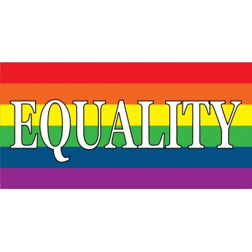 Equality Gay Pride Flag Photo License Plate