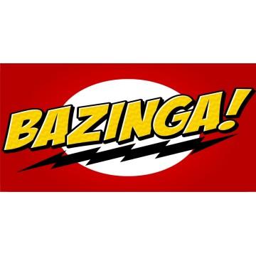 Bazinga Photo License plate