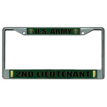 U.S. Army 2nd Lieutenant Chrome License Plate Frame