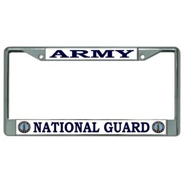 Army National Guard Chrome License Plate Frame