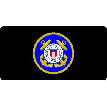 United States Coast Guard Photo License Plate
