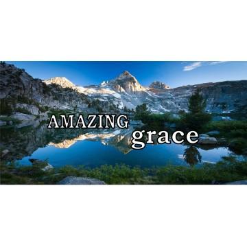 Amazing Grace Mountain Lake Scene Photo License Plate