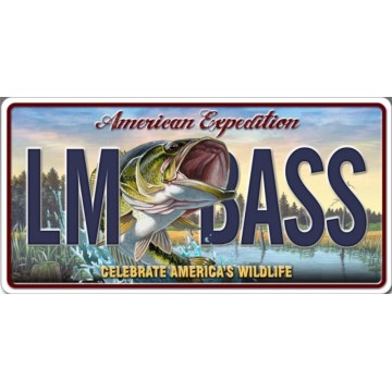 American Expedition LM BASS Photo License Plate