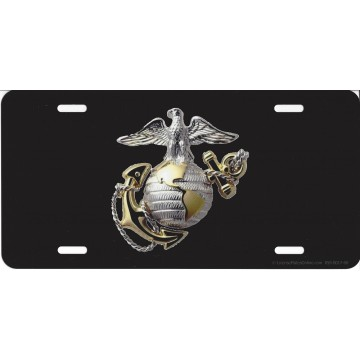 Marines Globe & Anchor  Photo License Plate
