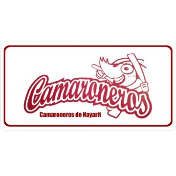 CAMARONEROS De Nayarit Photo License Plate
