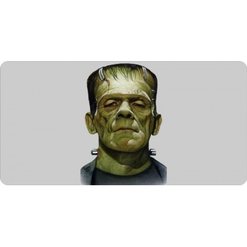 Frankenstein Centered Photo License Plate