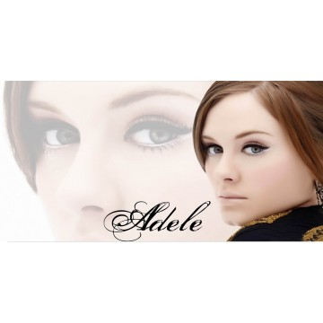 Adele Photo License Plate