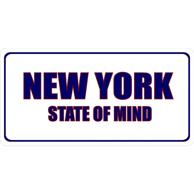 New York State Of Mind Photo License Plate