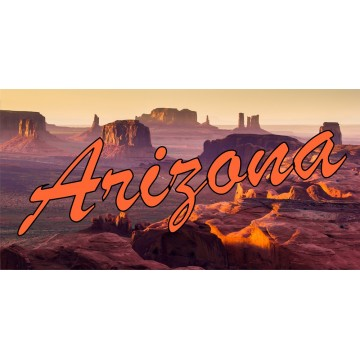 Arizona Grand Canyon Photo License Plate