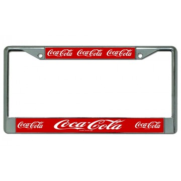 Coca-Cola Multiple Logo Photo License Plate Frame