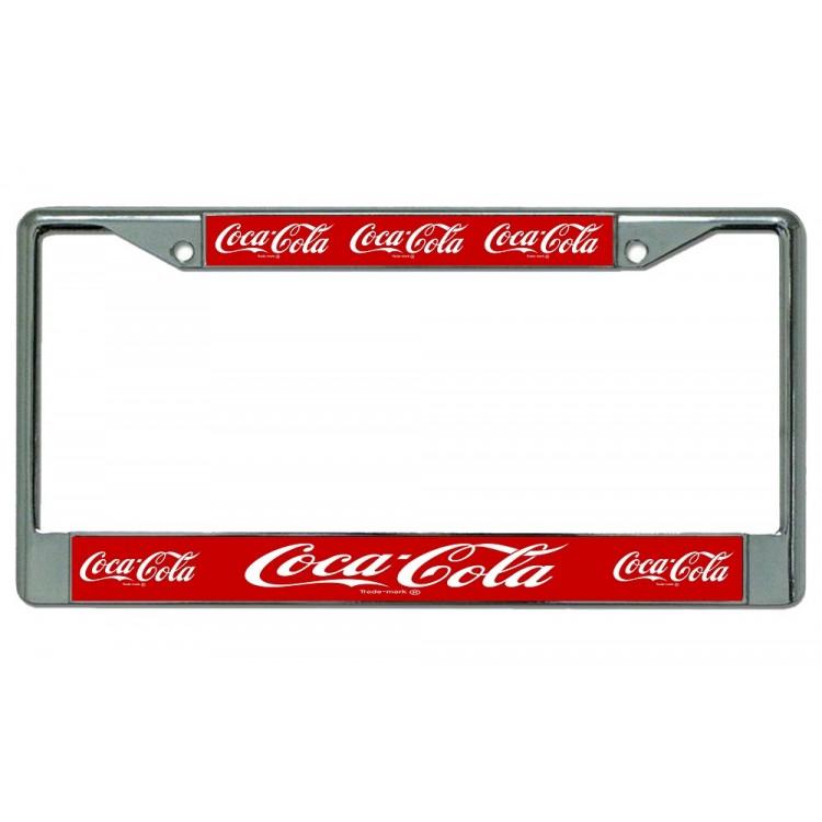 Coca-Cola Multiple Logo Photo License Plate Frame