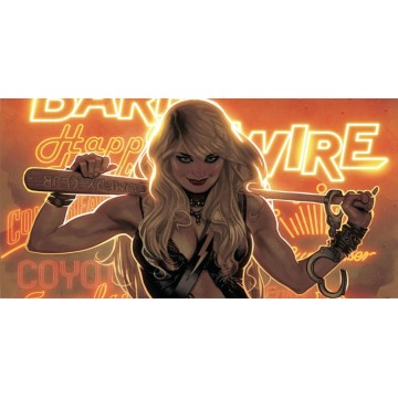 Barb Wire Photo License Plate