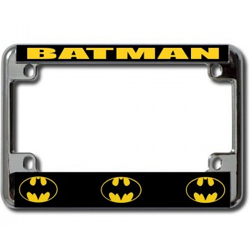 Batman Chrome Motorcycle License Plate Frame