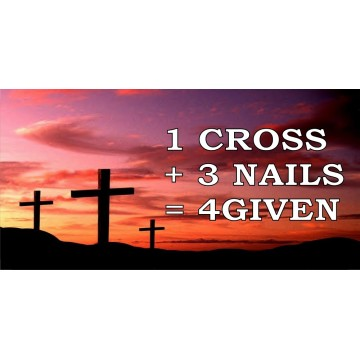 1 Cross + 3 Nails = 4given Photo License Plate