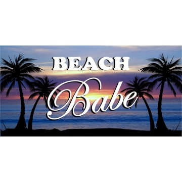 Beach Babe Photo License Plate