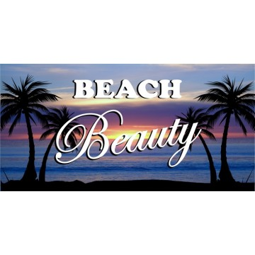 Beach Beauty Photo License Plate