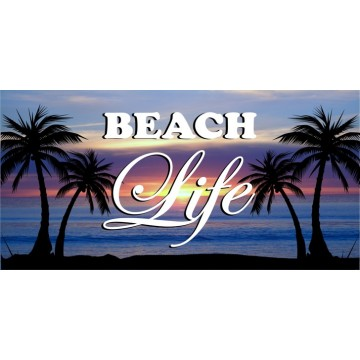 Beach Life Photo License Plate