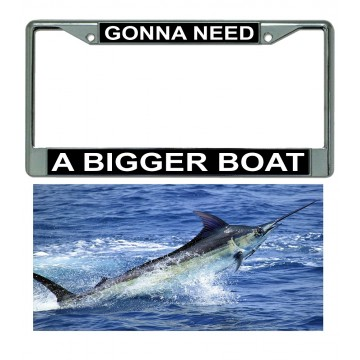 A Bigger Boat Chrome Frame And Marlin Plate Combo