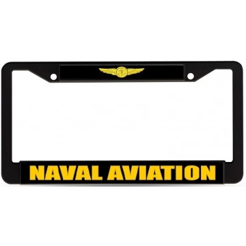 Naval Aviation Black License Plate Frame