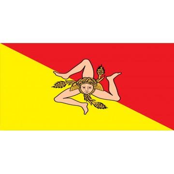 Sicily Flag Photo License Plate