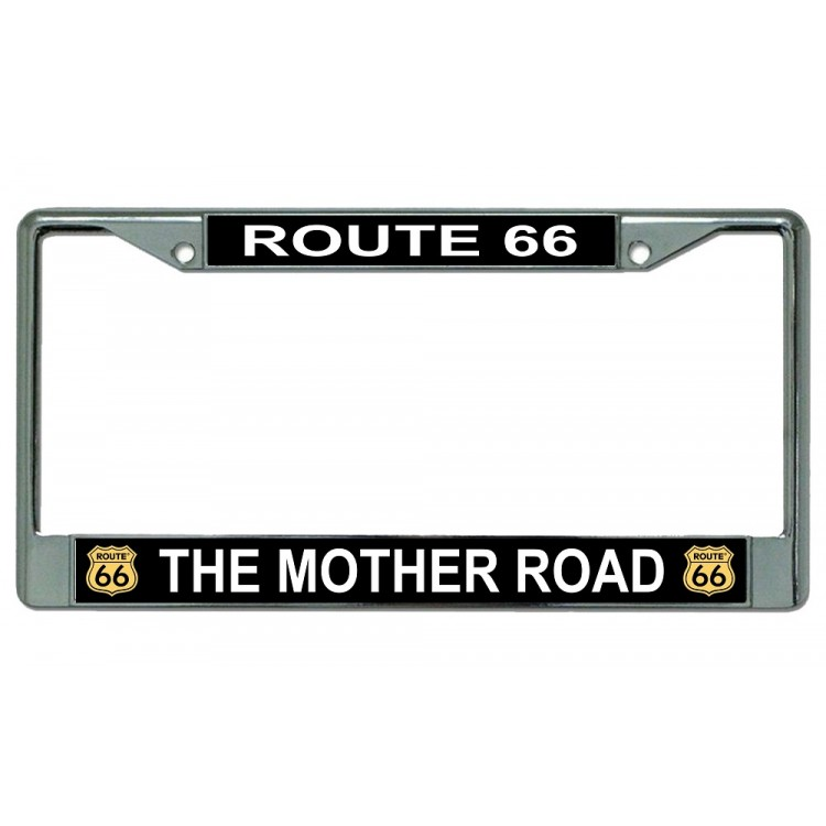 Route 66 The Mother Road Chrome License Plate Frame