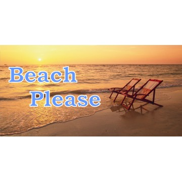 Beach Please Ocean Scene Photo License Plate