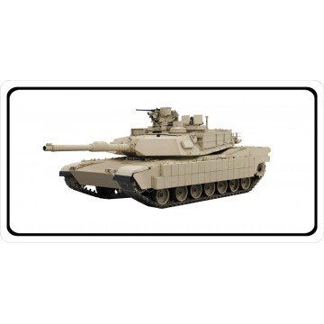M1 Abrams Tank Photo License Plate