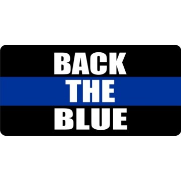 Back The Blue Photo License Plate