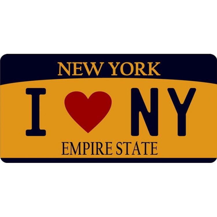 I Love New York Photo License Plate