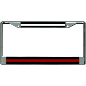 EMS / Firefighter Chrome License Plate Frame