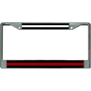 EMS / Firefighter Chrome License Plate Frame