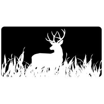 Deer Black And White Photo License Plate