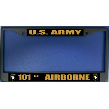 U.S. Army 101st Airborne Black License Plate Frame