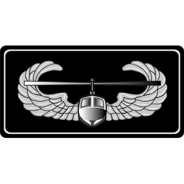 Air Assault Black Photo License Plate