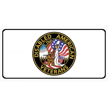 Disabled American Veterans Logo Photo License Plate