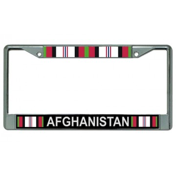 Afghanistan Veteran Chrome License Plate Frame