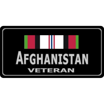Afghanistan Veteran Photo License Plate