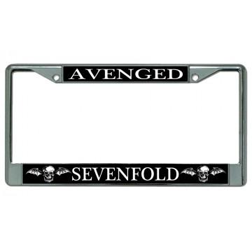 Avenged Sevenfold Chrome License Plate Frame