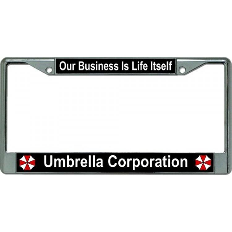 Umbrella Corporation Our Business Chrome License Plate Frame