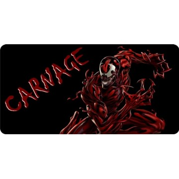 Carnage Photo License Plate