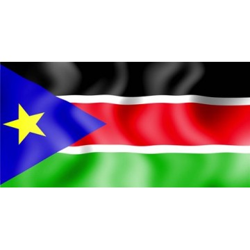 South Sudan Flag Photo License Plate