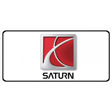 Saturn Logo Photo License Plate