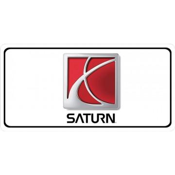 Saturn Logo Photo License Plate