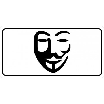 Anonymous Centered On White Photo License Plate