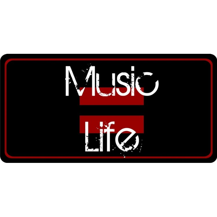 Music Equals Life Photo License Plate