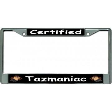 Certified Tazmaniac Chrome License Plate Frame