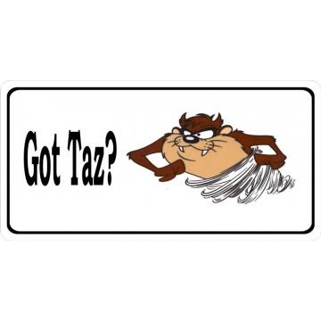 Got Taz Photo License Plate