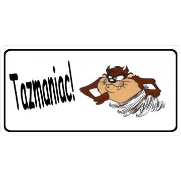 Tazmaniac Photo License Plate