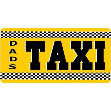 Dads Taxi Photo License Plate